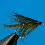 Olive Wet Irish Bumble Trout Fishing Fly #10 (W316)